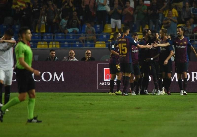 سوپرجام اسپانیا  بارسلونا با درخشش تراشتگن برای سیزدهمین بار قهرمان شد