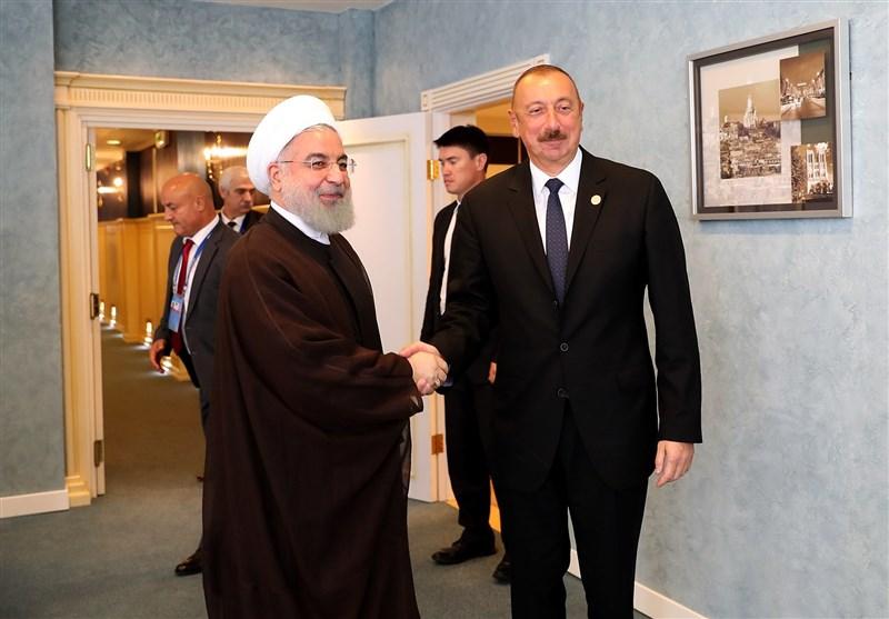 روحانی در دیدار علیاف: تحول بزرگی در سطح روابط تهران - باکو ایجاد شده است