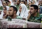 مراسم ازدواج 150 زوج نیروی زمینی ارتش در کرمانشاه برگزار شد