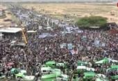 یمن|تشییع باشکوه شهدای اتوبوس دانشآموزان/الحوثی: آمریکا مسئول تمام جنایات علیه ملت یمن است+تصاویر