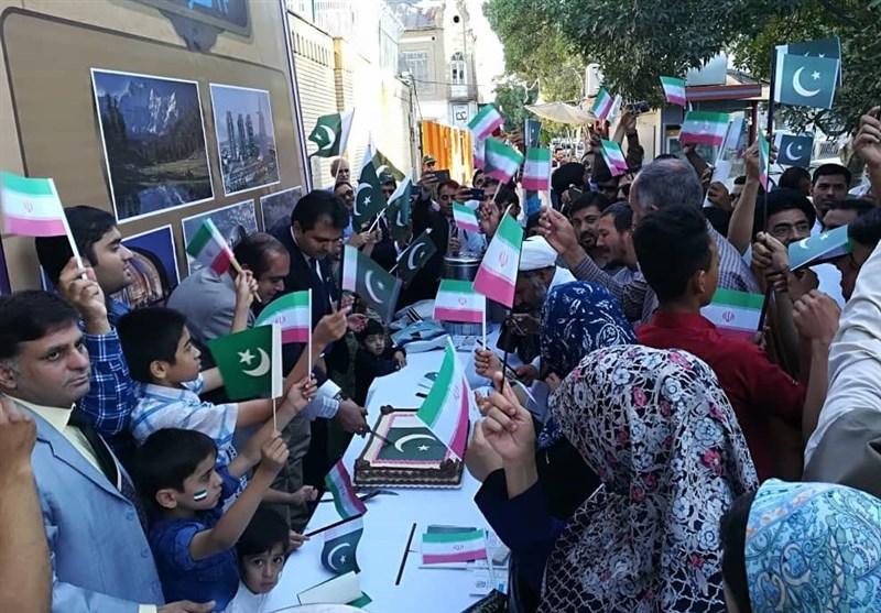 مردم مشهد نیز در جشن استقلال پاکستان شرکت کردند +تصاویر