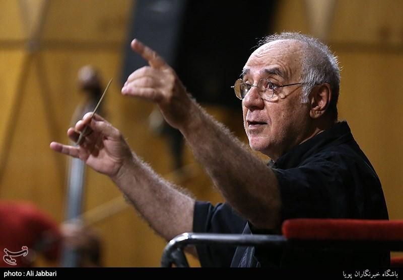 """تمرین ارکستر سمفونیک تهران برای اجرای سمفونی """"پیروزی"""" + عکس"""