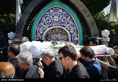تشییع پیکرمحمد عبادی دوبلور تلویزیون