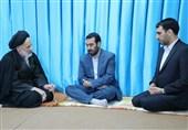 دیدار صمیمی آیتالله عبادی با برادر و فرزند ارشد شهید ناصری