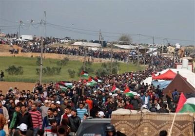 فلسطین|آمادگی مردم غزه برای راهپیمایی بازگشت؛ یورش گسترده صهیونیستها به کرانه باختری