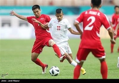 دیدار تیم فوتبال امید ایران و کره شمالی -بازیهای آسیایی 2018