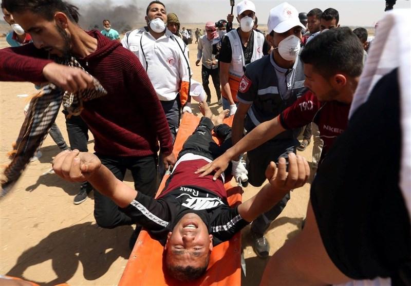 آغاز بیست و یکمین راهپیمایی بازگشت در نوار غزه/ زخمی شدن شماری از فلسطینیان