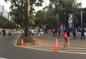 گزارش خبرنگار اعزامی تسنیم از اندونزی| جو امنیتی در اطراف ورزشگاه افتتاحیه + تصاویر