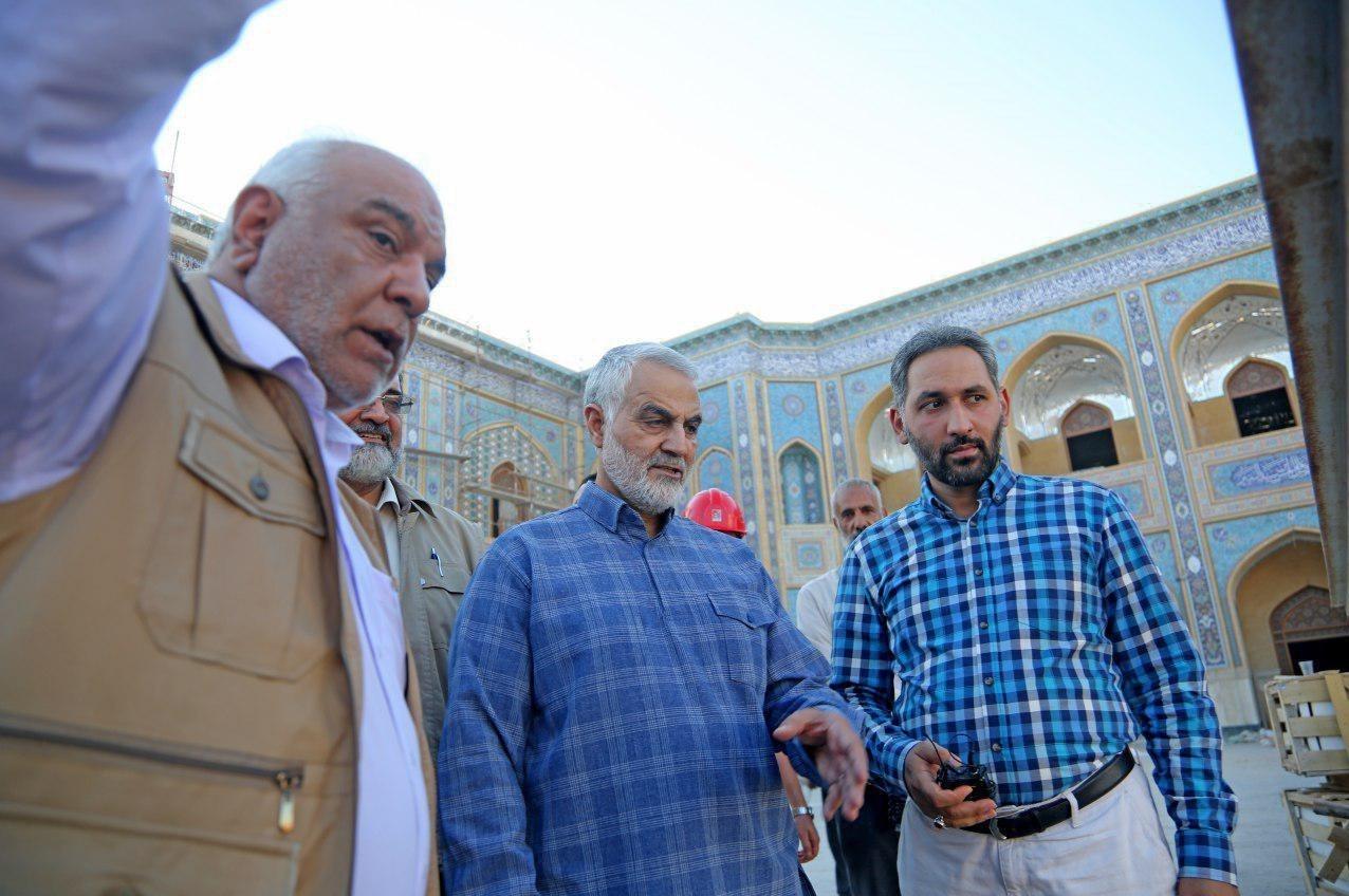 """بازدید """"سردار سلیمانی"""" از بزرگترین پروژه عمرانی مذهبی جهان اسلام + تصاویر"""