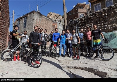 Iran's Historical Village Hosts Mountain Bike Trials Competition