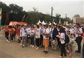 گزارش خبرنگار اعزامی تسنیم از اندونزی| حضور هواداران 2 کره با لباس مشترک و استقبال خوب از مراسم افتتاحیه + تصاویر