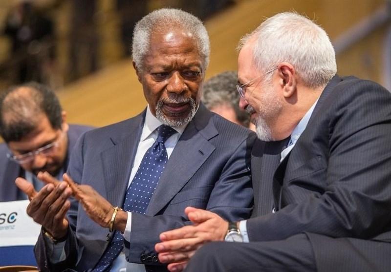 Iran's Zarif Says 'Extremely Saddened' by Kofi Annan's Death