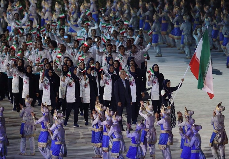 Iran Delegation Marches at Asian Games Opening Ceremony