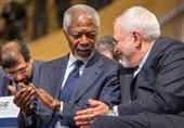 ظریف: کوفی عنان بطل السلام والعدالة وسیادة القانون