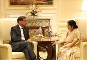 پاکستانی وفد کی بھارتی وزیرخارجہ سشماسوراج سے ملاقات