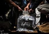 مراسم خاکسپاری پیکر عزتالله انتظامی