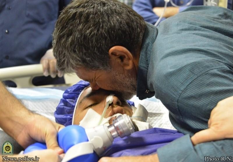 اهدای اعضای بدن یک سرباز ناجا به 3 بیمار پس از مرگ مغزی