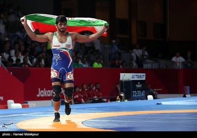 کسب اولین مدال طلای ایران در بازیهای آسیایی ۲۰۱۸ توسط حسن یزدانی