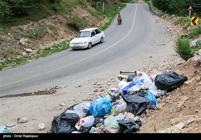 آلودگی محیط زیست در مسیر مسافران تابستانی گیلان