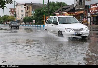 بارش باران و آبگرفتگی معابر - کلاچای