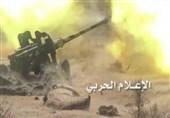 مدفعیة الجیش الیمنی تدک مواقع العدوان فی نجران