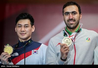 کسب مدال برنز مسابقات شمشیربازی توسط علی پاکدامن - بازیهای آسیایی 2018