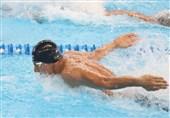 شنای انتخابی المپیک  مهدی انصاری در 50 متر پروانه چهارم شد