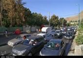 """تردد در محورهای مواصلاتی استان البرز روان است/ """"کنترل خودروها عبوری"""" دلیل ترافیک ابتدای محور کرج - چالوس"""