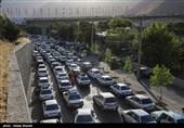 بهار 98| ترافیک سنگین در محور کرج - چالوس