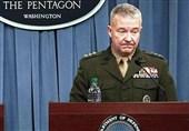 بازدید فرمانده تروریستهای آمریکایی در غرب آسیا از پایگاه عینالاسد