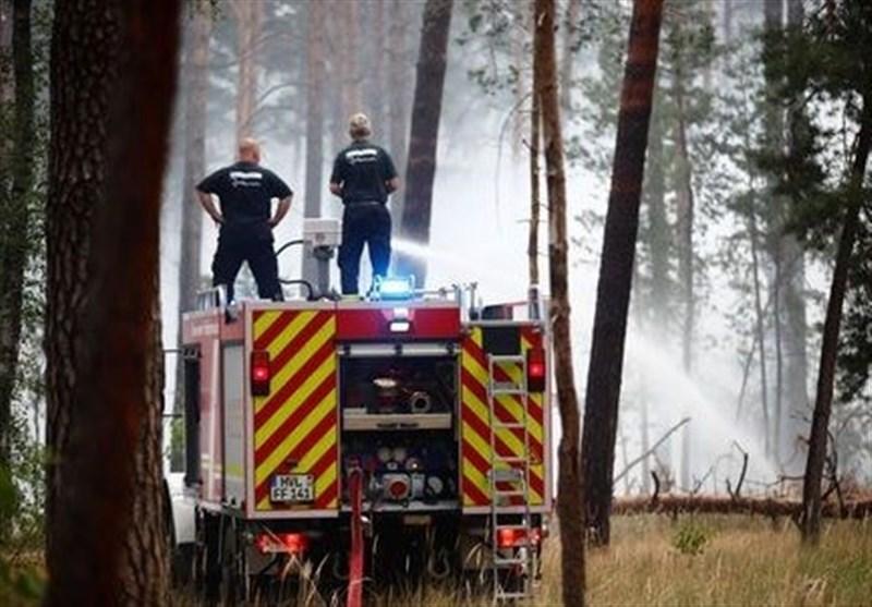 Firefighters Make Progress with Forest Fire outside Berlin