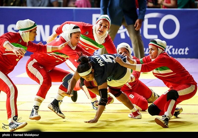 دیدار تیمهای ملی کبدی زنان ایران و هند - فینال بازیهای آسیایی 2018