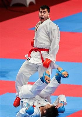 سجاد گنجزاده در فینال وزن 84+ کیلوگرم مسابقات کاراته - بازیهای آسیایی 2018