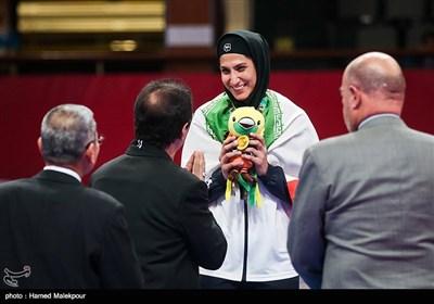 کسب مدال برنز حمیده عباسعلی در وزن 68+ کیلوگرم مسابقات کاراته - بازیهای آسیایی 2018