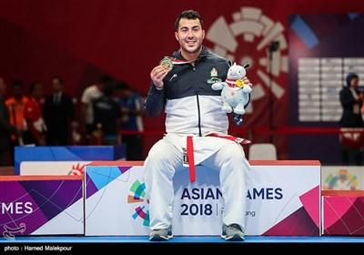 کسب مدال طلای سجاد گنجزاده در وزن 84+ کیلوگرم مسابقات کاراته - بازیهای آسیایی 2018