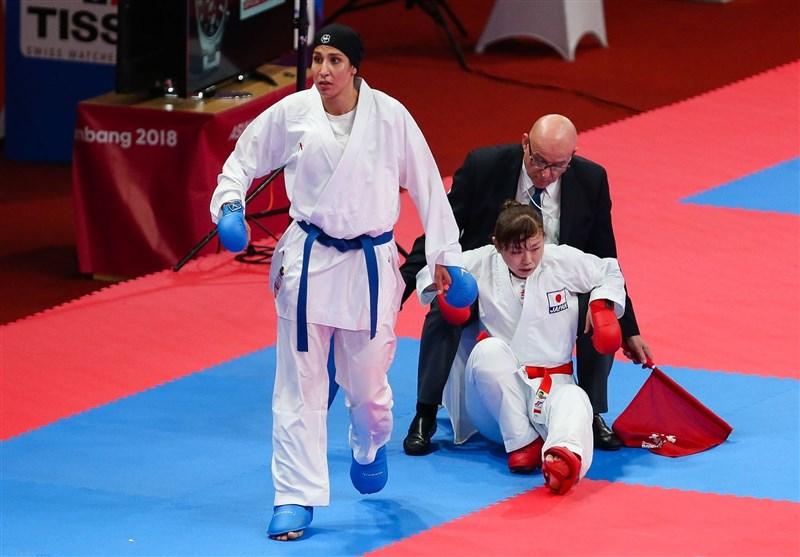 کاراته قهرمانی آسیا| پیروزی نزدیک تیم کومیته تیمی بانوان مقابل ازبکستان