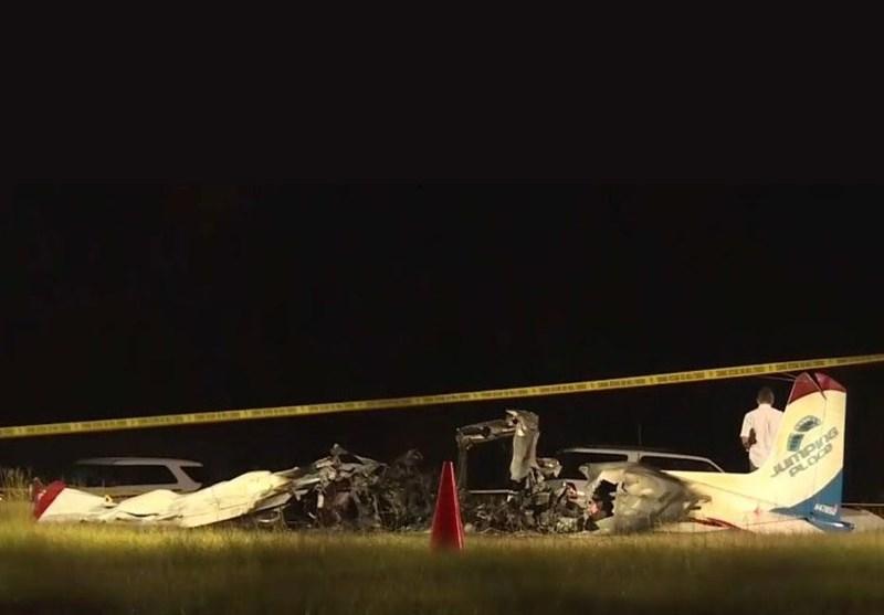 سقوط مرگبار هواپیمای چتربازان در فرودگاه جورجیا