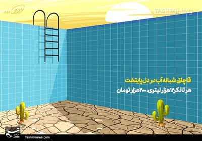کاریکاتور/ قاچاق شبانه آب در دلپایتخت!!!