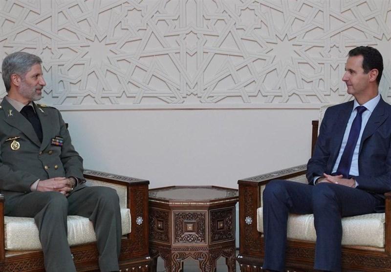 İran Savunma Bakanı Suriye Devlet Başkanı İle Görüştü