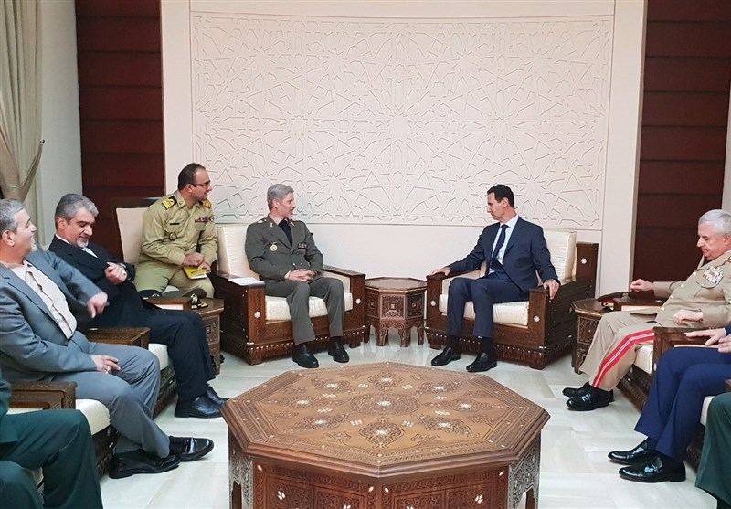 Iran's DM Meets Syrian President Assad in Damascus