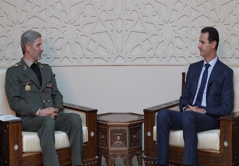 وزیر دفاع ایران با رئیسجمهور سوریه دیدار کرد/ بشار اسد: فرافکنیها تاثیری در روابط مستحکم بین ایران و سوریه ندارد