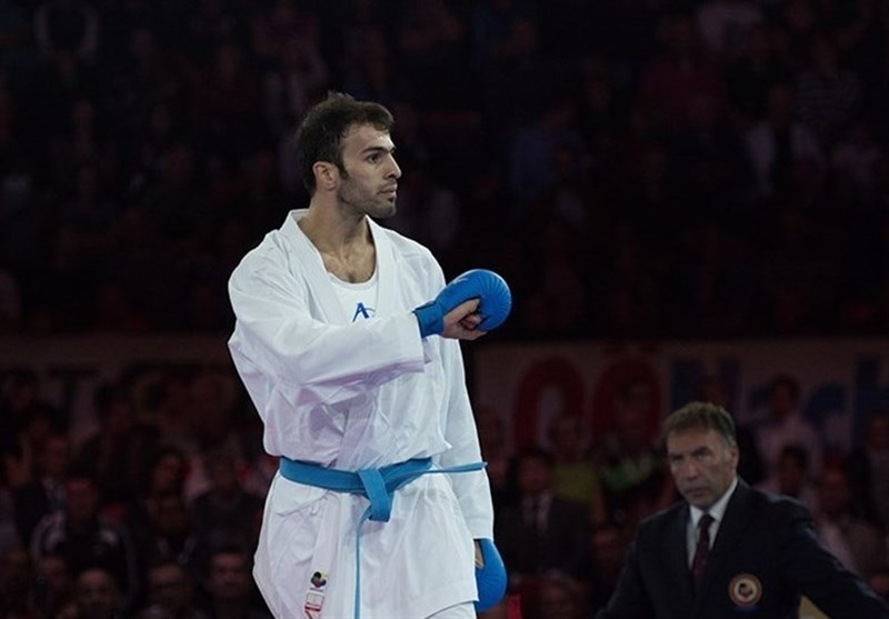 کاراته قهرمانی جهان| درخشش برق نشان طلای جهان بر سینه بهمن عسگری