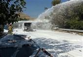 جزئیات آتشسوزی تانکر 20 هزار لیتری بنزین در شهران + تصاویر