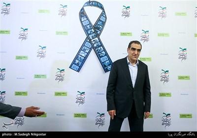سید حسن قاضی زاده هاشمی وزیر بهداشت در اختتامیه سومین جشنواره فیلم سلامت