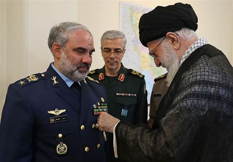 Leader Awards 'Medal of Victory' to Iran's Former Air Force Commander