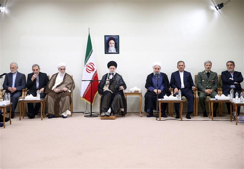 دیدار رئیسجمهور و اعضای هیئت دولت با امامخامنهای
