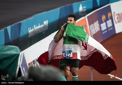 کسب مدال طلای احسان حدادی در مسابقات پرتاب دیسک - بازیهای آسیایی 2018