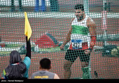 احسان حدادی در مسابقات پرتاب دیسک - بازیهای آسیایی 2018