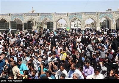 بازسازی واقعه غدیر خم در حرم امام رضا (ع)