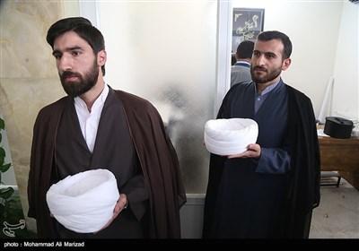 مراسم عمامه گذاری طلاب در عید غدیر-قم
